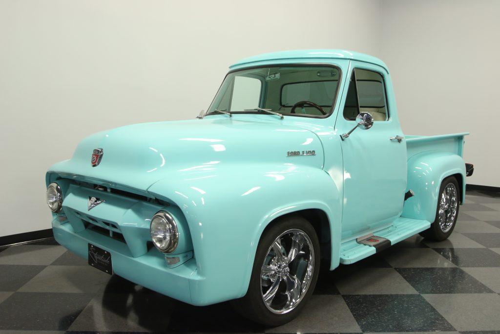 restored 1954 Ford F 100 custom truck