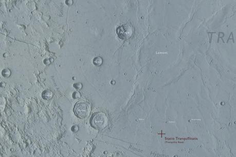 Apollo 11 Landing Map
