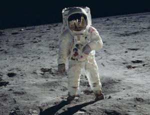 Man walking on the moon - Moon Map Apollo 11