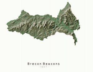 National Parks Breacon - Dennis Maps Ordnance Survey poster