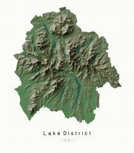 National Parks Lake District - Dennis Maps - Ordnance Survey poster