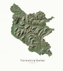 National Parks Yorkshire Dales - Dennis Maps - Ordnance Survey poster