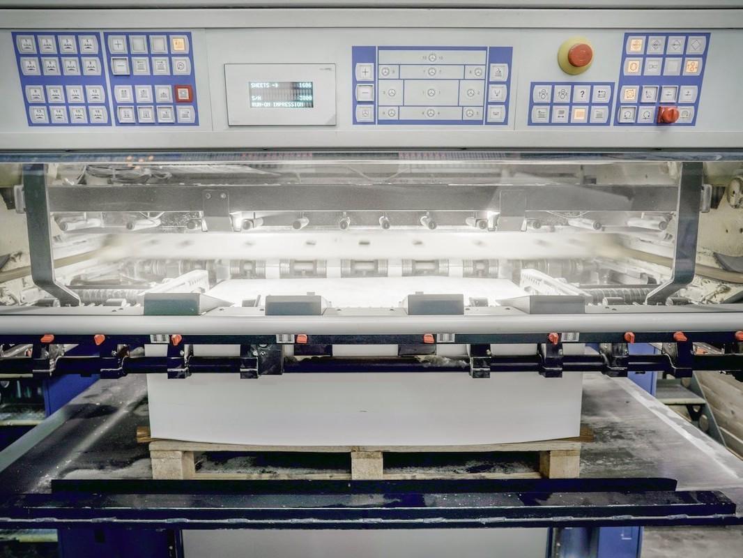 Dennis Maps KBA162 large format litho printers control panel
