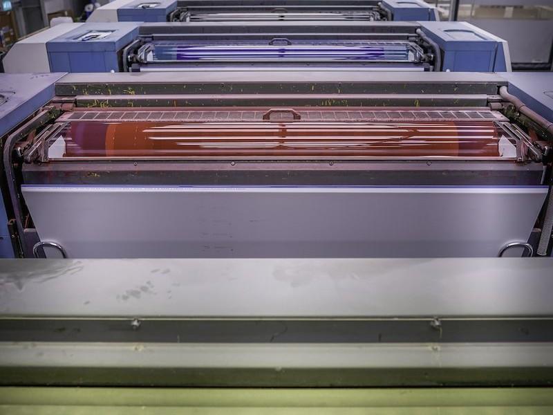 Dennis Maps KBA162 large format litho printers ink vats