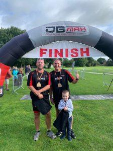 Dennis Maps staff members completing first Triathlon - Lewis Walker (Print Supervisor) and Simon Marks (Map Finisher)