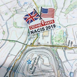 Dennis Maps NACIS conference badge