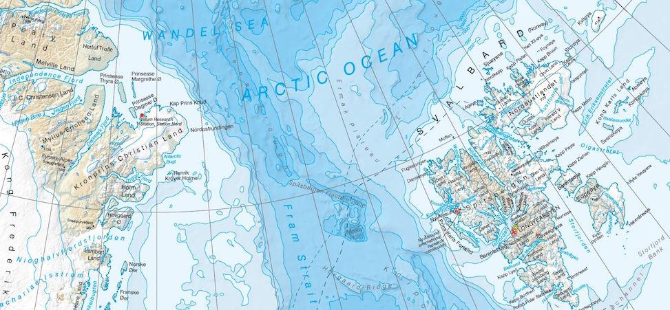 Arctic map - environmental responsibilities