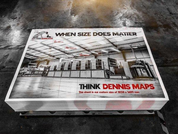 Dennis Maps pronting press for Large format Posters - when size does matter