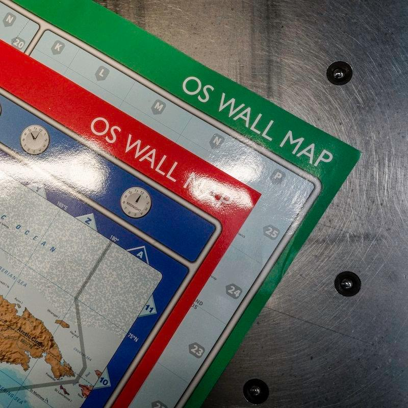 Selection of OS Wall Maps