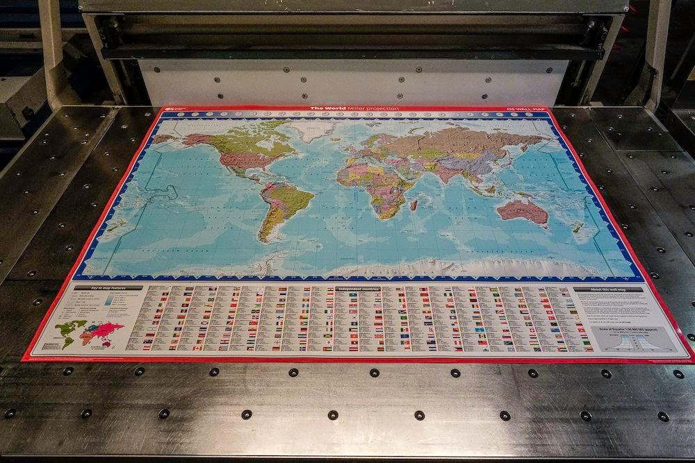 Map of the world - wall map - laminated map