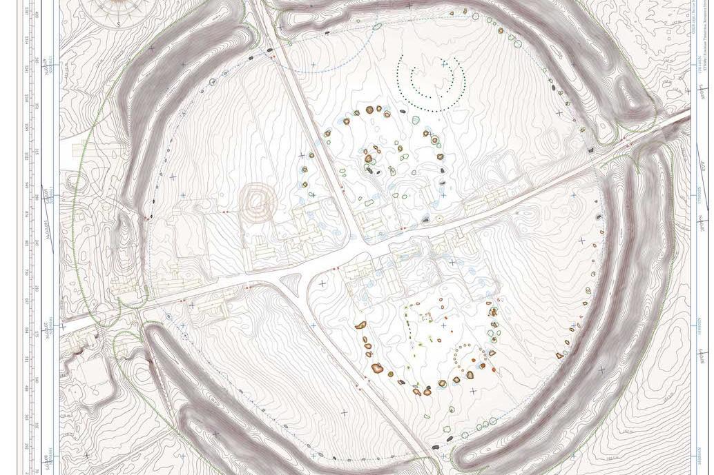 AVEBURY MAP Stone Circle