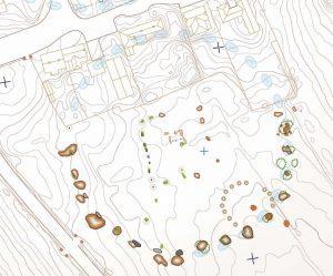 AVEBURY MAP - standing stone circle