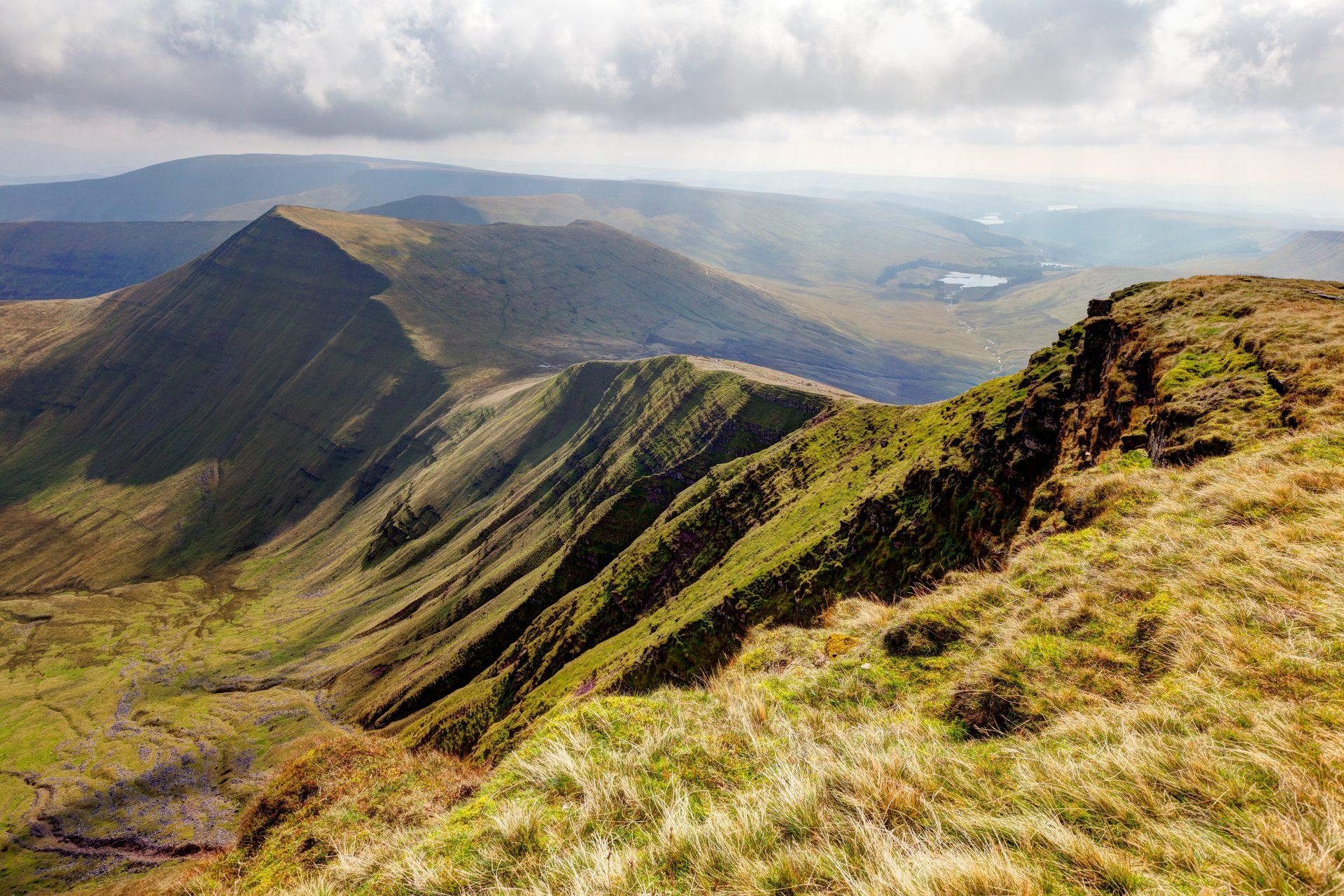 View of Brecon Beacons National Park from Pen Y Fan