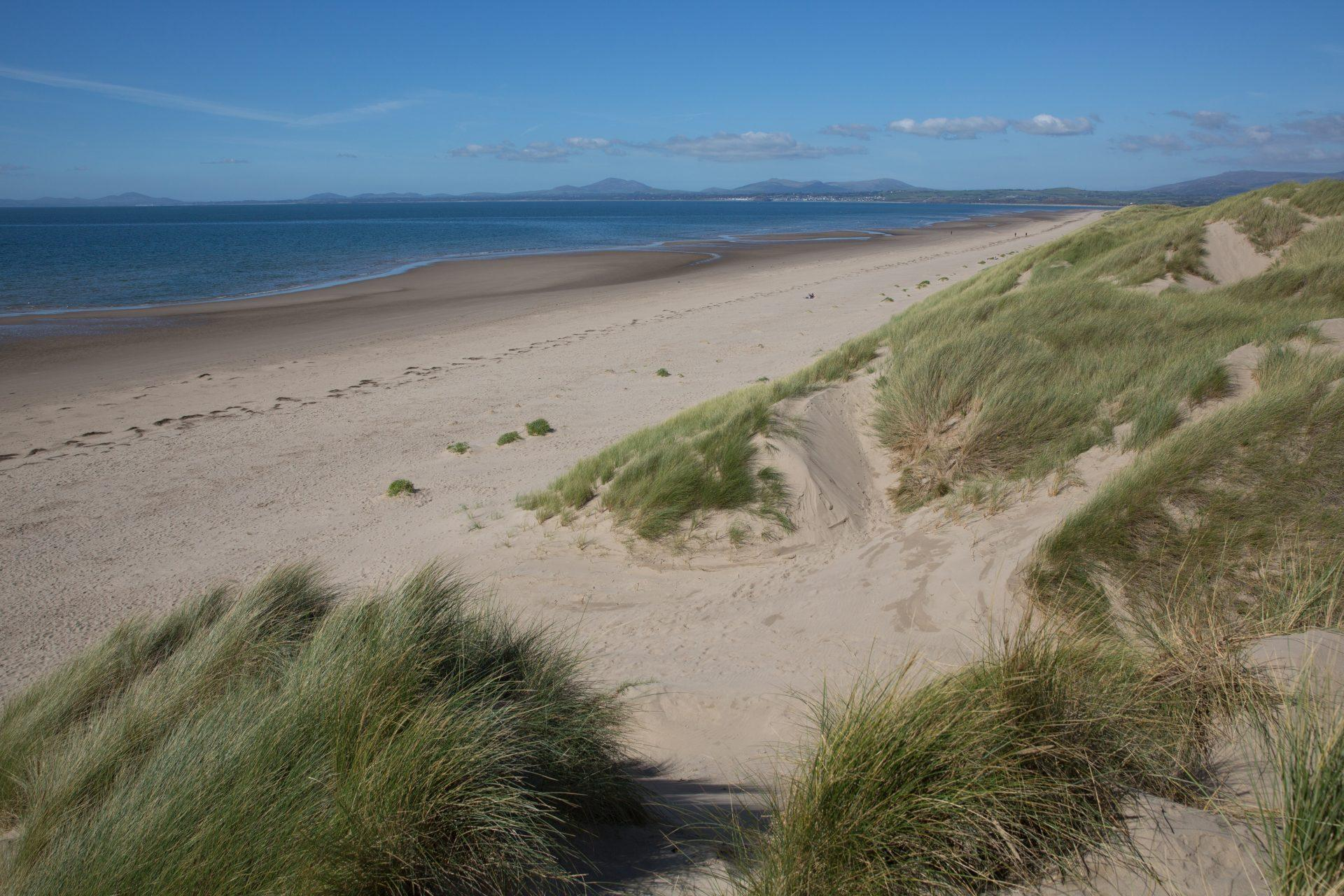 Harlech beach north west Wales UK by the castle
