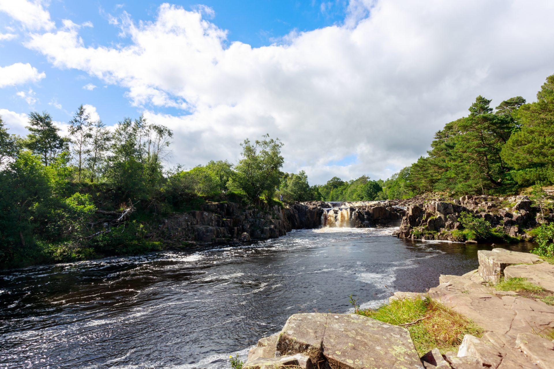 Low Force Waterfall on the Pennine Way, Bowlees Tees Valley, County Durham