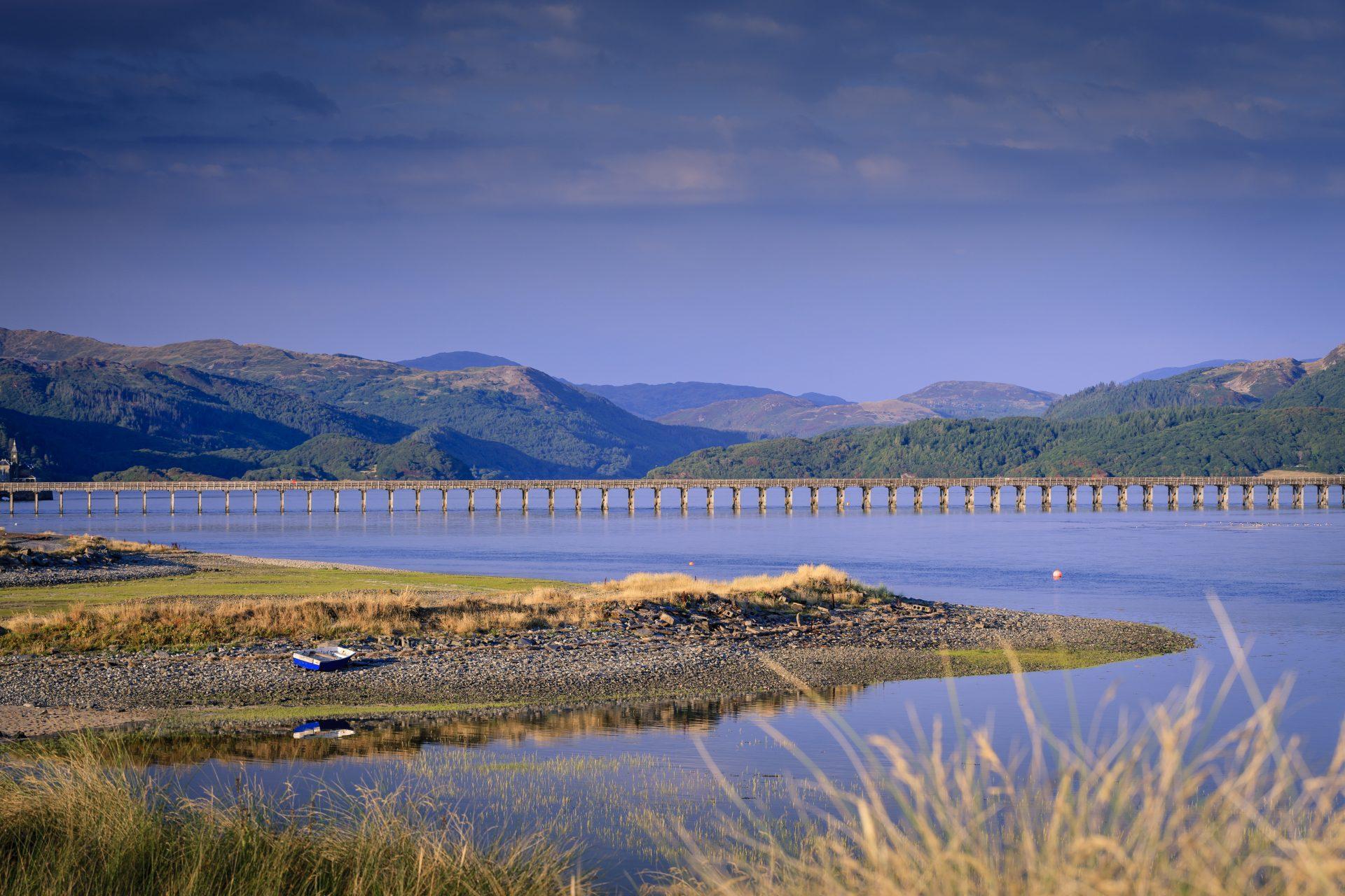 Barmouth Bridge. Mawddach Trail, Gwynedd, Wales