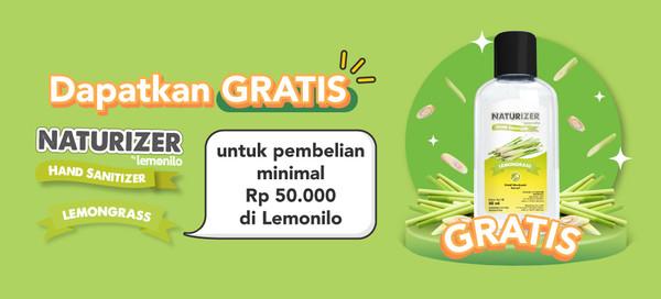 Dapatkan GRATIS Naturizer Lemongrass untuk Transaksi Minimal Rp 50.000