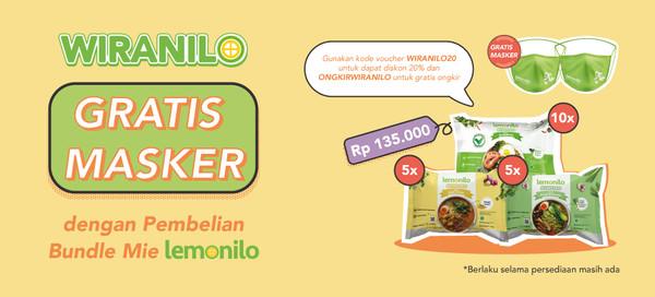 Beli Paket Lemonilo Dapat GRATIS Masker Spesial Wiranilo!