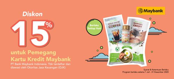 Diskon 15% OFF Dengan Kartu Kredit Maybank