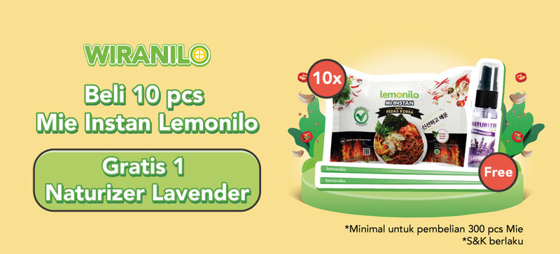 Spesial Wiranilo, Beli Mie Instan Lemonilo GRATIS Naturizer & Sumpit