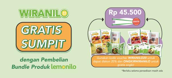 Pembelian Bundle Dapat GRATIS Sumpit Spesial Untuk Wiranilo!