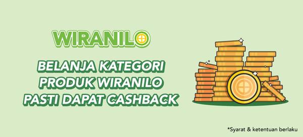 Belanja Produk Kategori Wiranilo Pasti Dapat Cashback!