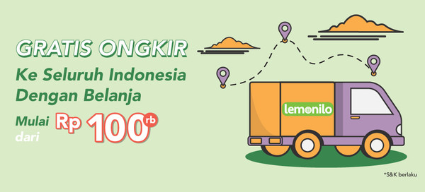 Gratis Ongkir ke Seluruh Indonesia!