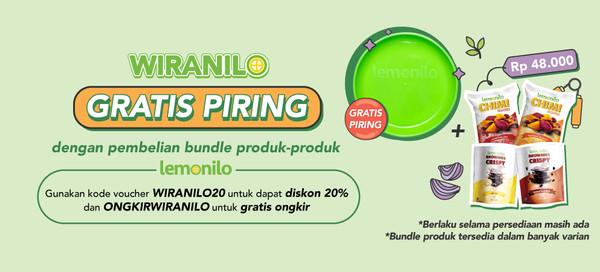 Pembelian Bundle Dapat GRATIS Piring Spesial Untuk Wiranilo!