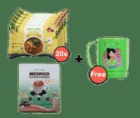 Paket Mie Kari Ayam Isi 20 dan Michoco GRATIS Mug Karakter Moni