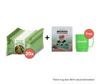 Paket Mie Kuah Rasa Ayam Bawang Isi 20 dan Michoco GRATIS Mug