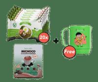 Paket Mie Goreng Isi 20 dan Michoco GRATIS Mug Nilo