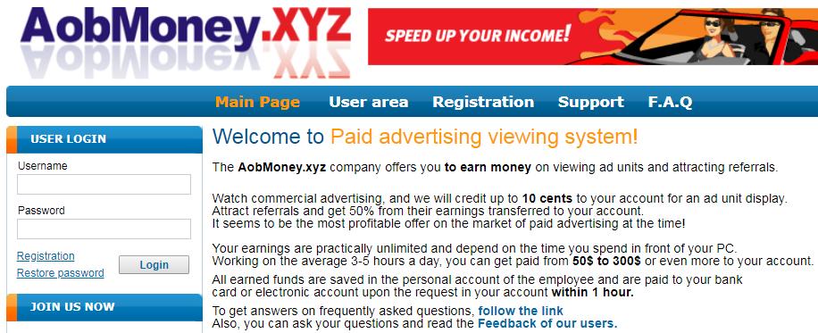 AobMoney.xyz Identical Scam