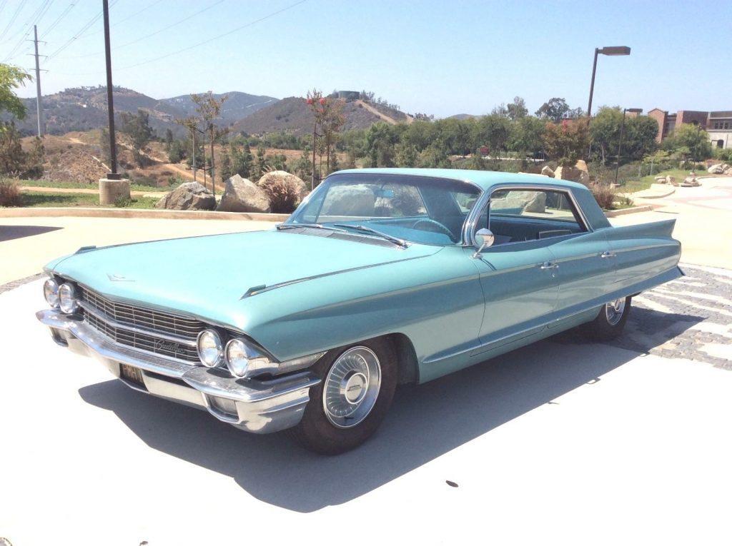 Turquoise 1962 Cadillac Deville 4 Door Hardtop