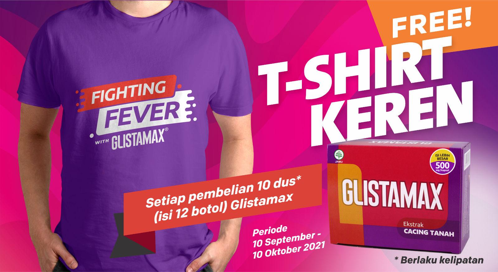 Free T-Shirt keren Glistamax