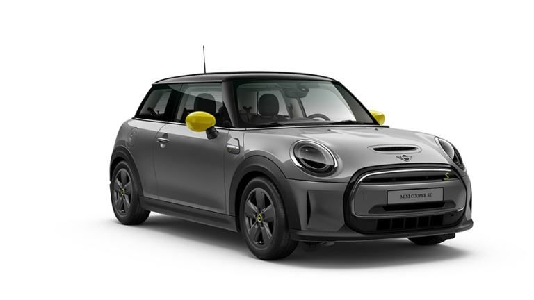 A promotional picture of a third generation Mini Cooper