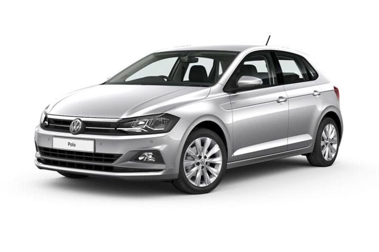 A promotional picture of a seventh generation Volkswagen Polo