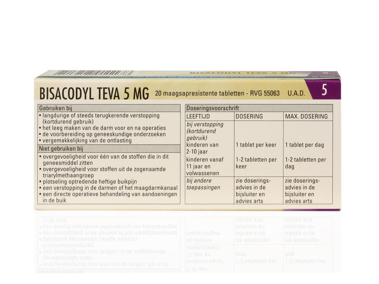 Bisacodyl Teva Tablet Msr 5mg