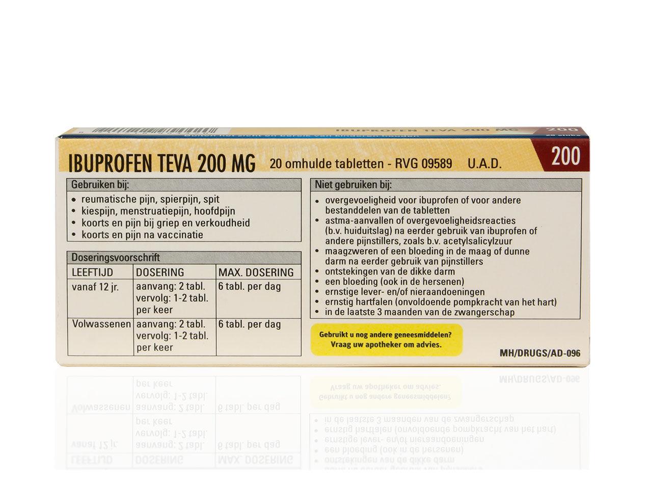 Ibuprofen Teva Tablet 200mg