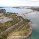 photographie aérienne du barrage de la rance