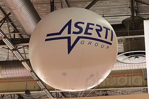 ballon géant publicitaire 2 m aserti salon CFIA à rennes