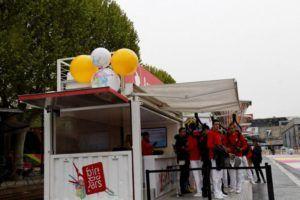 décoration billetterie grappe ballons gonflable foire de paris 2012