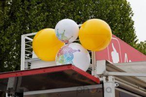 grappe de ballon gonflables de plusieurs tailles pour la foire de paris 2012