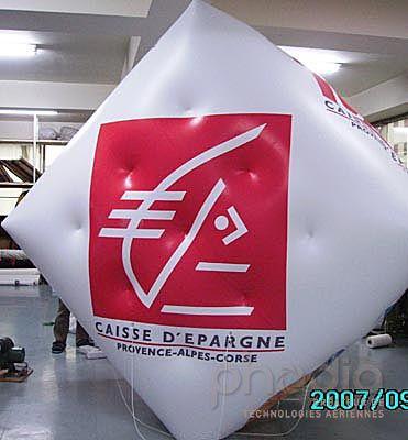 cube gonflable caisse d'épargne