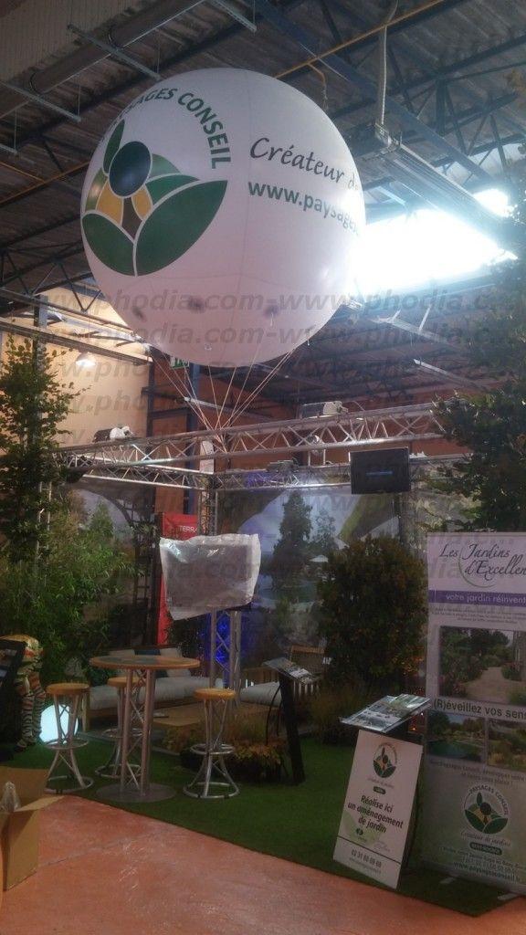Ballon hélium créateur de paysage