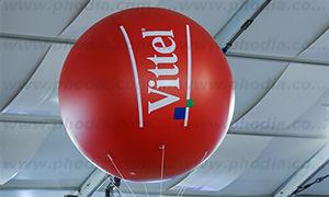 ballon gonflable hélium vittel à disneyland 2 m rouge