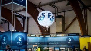 ballon publicitaire lumineux pour signaler une entreprise : FDS