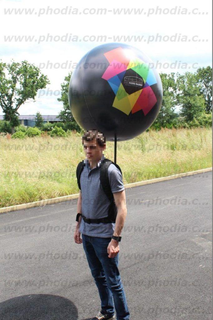 ballon sac à dos stade pierre mauroy