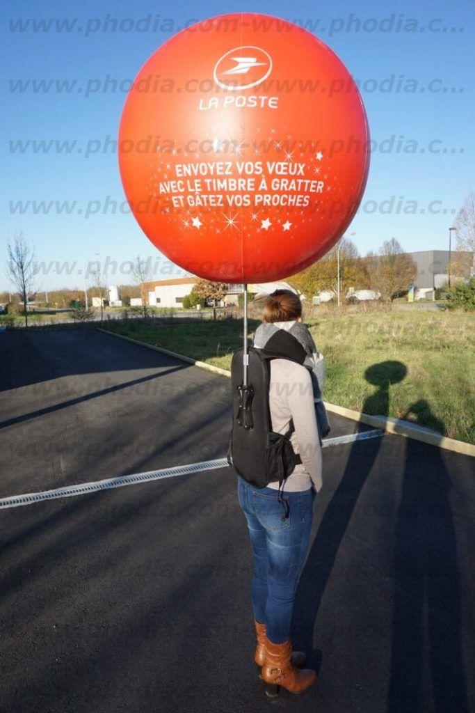 ballon sac a dos street marketing la poste
