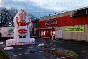 boucher géant Novoviande 5m