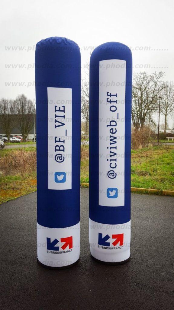 colonne gonflable à l'air 2.20 m business france
